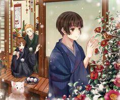 Hetalia Christmas Japan / Germany / Italy