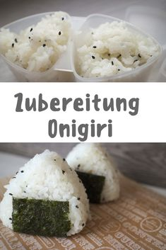 Onigiri Recipe: 3 Quick & Easy Ideas The Hangry Stories - Recipe for Japanese rice balls / onigiri with different fillings - Japan Rice Recipe, Yummy Drinks, Yummy Food, Asian Kitchen, Vegetarian Recipes, Healthy Recipes, Buttery Cookies, International Recipes, Healthy Cooking