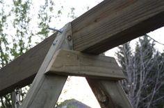 31 Trendy ideas for how to build a pergola garden projects Diy Pergola, Building A Pergola, Pergola Swing, Pergola Plans, Pergola Kits, Pergola Ideas, Patio Ideas, A Frame Swing Set, Porch Swing Frame