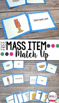 Four different ways to teach your students the names for the items commonly found during a Catholic Mass. Great for whole group small groups centers and more to reach all of your learners in a religious education Catholic classroom or homeschool setting. Catholic Schools Week, Catholic Religious Education, Catholic Catechism, Catholic Mass, Catholic Crafts, Religious Studies, Catholic Homeschooling, Catholic Children, Catholic Sacraments