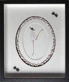 La gorge décorée - Fiche Technique d'Isabelle de CLERCK dans le carnet n° 6 de www.cutteracademy.com - Cadre réalisé par Véronique DURHONE