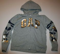 59a4394ec9d357 New Gap Kids Girls Boys Mickey   Minnie Mouse Disney Logo Hoodie NWT Silver  Gray  fashion  clothing  shoes  accessories  kidsclothingshoesaccs ...