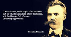 That Cool Quote by Frederick Nietzsche on Battlestar Eclectica.