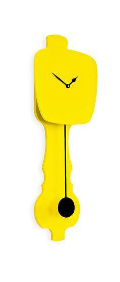 KLOQ | Yellow and Black clock, Gele en zwarte design klok