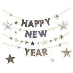 Confetti Happy New Year garland $8