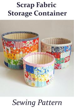 Scrap Fabric Projects, Small Sewing Projects, Quilting Projects, Sewing Hacks, Sewing Crafts, Sewing Tutorials, Bag Tutorials, Tutorial Sewing, Sewing Ideas