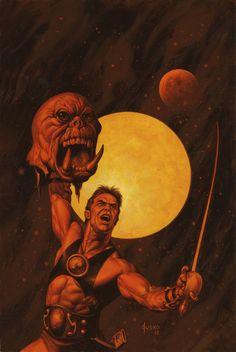 Warlord of Mars #25. Cover art by Joe Jusko.