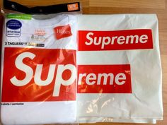 Supreme Hanes Tagless T-shirts Tee Pack of 3 White Sz M FREE SHIPPING…