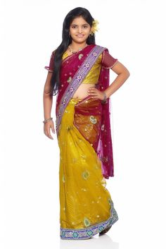 06866d2b7b6f On this new year eve gift your kids a designer saree and Send your best  wishes