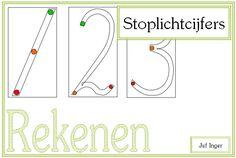 Stoplichtcijfers - Juf Inger Msv, Pre Writing, Calculus, Grade 1, Teaching, Education, Kids, Lego Duplo, Professor