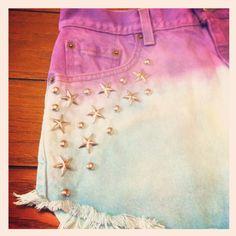 CustomOrder Studded Dyed Shorts etsy.com/shop/namesdollface $45