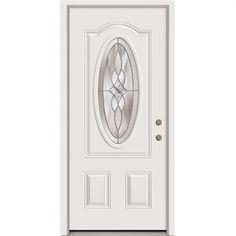 $254 Half Lite Vented 2-Panel Painted Steel Entry Door Model # 9100S ...