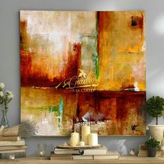 Abstract City, Abstract Canvas Art, Oil Painting Abstract, Acrylic Art, Canvas Wall Art, Gold Leaf Art, Environmental Art, Modern Art, Abstract Landscape Painting