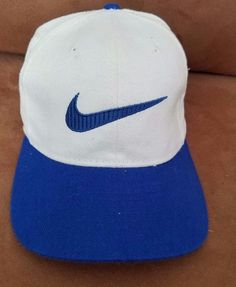 119c01c7384 Vintage Duke Blue Devils NIKE Hat Logo Script SnapBack Cap 90s NCAA  Basketball  Nike  DukeBlueDevils