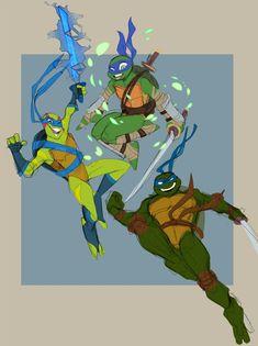 Ninja Turtles Art, Teenage Mutant Ninja Turtles, Usagi Yojimbo, Tmnt Leo, Tmnt 2012, Chibi Characters, Fan Art, Cartoon Drawings, Turtle Love