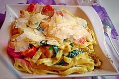 Pasta Scampi e Spinaci alla  Vapiano 1