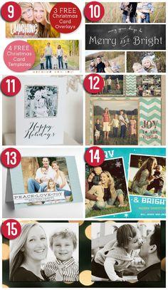 101 creative christmas card ideas - Free Christmas Card Templates For Photographers