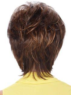 Short Sassy Shag With Soft Layeres Human Hair Wig, Short Bob Wigs Human Hair | D4 wwa301