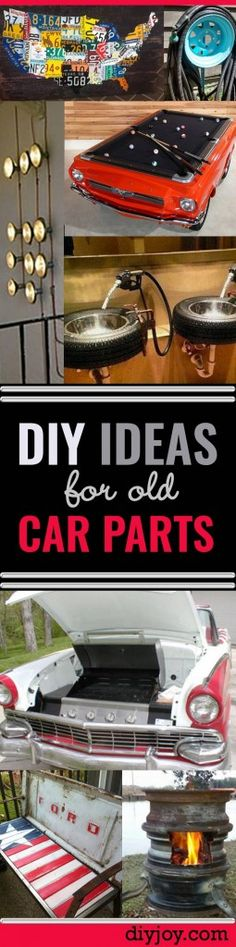 DIY Ideas Using Old Car Parts - DIY Projects and Fun Crafts for Men (and Women)
