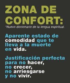 zona de confort. frases, vida, palabras