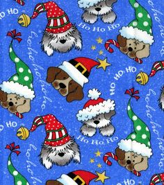 Holiday Inspirations-Christmas Dogs Glitter