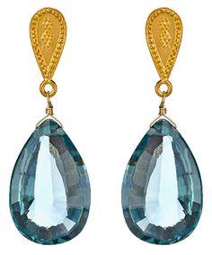 Satya Jewelry Blue Topaz Drop Earrings