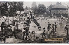 Bata Estate East Tilbury Swimming Pool packed with swimmers Summer Local History, World History, Bata Shoes, New Television, Flotsam And Jetsam, Photographs And Memories, Heritage Center, British Isles, Tilbury