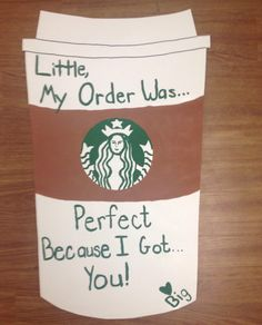 Make a big fake stars cup to go with coffee theme gift.