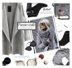 """""""Romwe. Coffee Date."""" by imurzilkina ❤ liked on Polyvore featuring Caffé, MANGO, Color Me, H&M, romwe and CoffeeDate"""