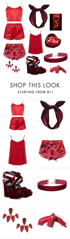 """""""Ruby"""" by briannavaughn2004 ❤ liked on Polyvore featuring Lulu in the Sky, Dorothy Perkins, Levi's, Yves Saint Laurent, Miss Selfridge, Armadoro, Oliver Gal Artist Co. and Elizabeth Arden"""
