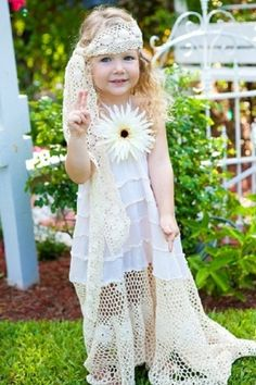 flower girl - remove the big flower and add a green or blue sash by mandy
