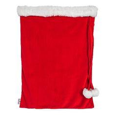 "462-983 - Paula Deen Home 35.5"" Faux Fur Trimmed Holiday Santa Sack"