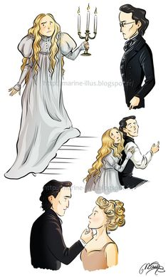 Crimson Peak doodles by MarineElphie