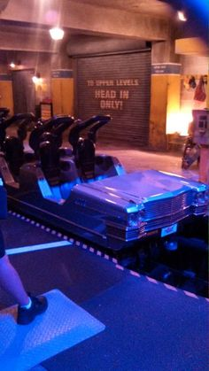 Upside down roller coasters- Aerosmith! This is the limo taking you to the concert w/ loud music playing in headrest!