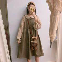Do you think I should buy it? Mori Girl Fashion, Lolita Fashion, Aesthetic Fashion, Aesthetic Clothes, Aesthetic Outfit, Goth Hippie, Nu Goth, Pretty Outfits, Pretty Dresses
