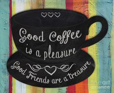 With Coffee-jp3777 Painting by Jean Plout