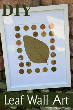 Make your own stunning leaf wall art using gorgeous leaves. Simply eye-catching and super simple to make, plus it changes each day over a whole year! Nature Crafts, Home Crafts, Diy Crafts, Art For Kids, Crafts For Kids, Arts And Crafts, Autumn Activities, Fun Activities, Diy Craft Projects
