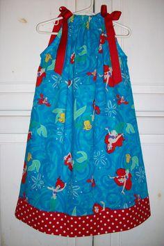 Pillowcase Dress LITTLE MERMAID  Ariel