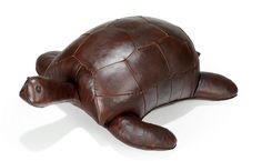 """Tortoise - Turtle - Leather Footstool Large Tortoise Size: 35""""(L) x 32"""" (W) x 12""""(H) Medium Tortoise Size: 32"""" (L) x 27"""" (W) x 10"""" (H) $985 http://www.northriveroutfitter.com"""