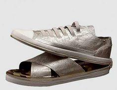 Shoes that transform into sandals