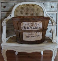 Make it yourself - Antique French Graphic Basket