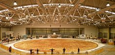 """Roman chefs, led by the Dr. Schar Group, have created Ottavia, the world's largest gluten-free pizza. It took over 48 continuous hours to make, measures 131 feet in diameter, used more than 9 tons of gluten-free flour, and set a new Guinness World Record. It was made to create awareness for """"celiac disease and gluten-sensitivity"""" issues"""