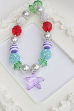Ariel Chunky Necklace Girls Chunky Bubble Gum by TheTwinkleShoppe, $18.00