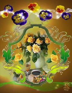 Good Day, Mandala, Animation, Night, Beautiful, Crochet Ladybug, Ladybugs, Buen Dia, Good Morning