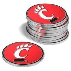 Cincinnati Bearcats 12 Pack Collegiate Ball Markers