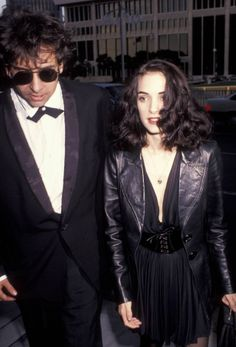 Winona Ryder and Tim Burton 1991