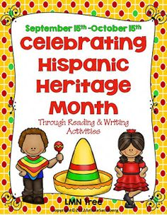 LMN Tree: Great Free Resources to Help Celebrate Hispanic Heritage Month Hispanic History Month, Hispanic Heritage Month, 5th Grade Activities, Writing Activities, Holiday Activities, Spanish Heritage, Spanish 1, Hispanic Countries, Hispanic American
