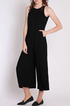 Черный комбинезон Divina 9.567 Black jumpsuit