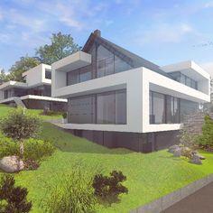 Hanghaus Satteldach Moderne Architektur By Http://www.flow Architektur .de/portfolio/architektenhaus Satteldach Bauen/ #Architektu2026 | Ideen Rund  Ums Haus ...