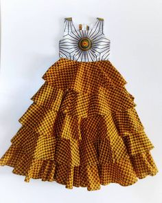 African Dresses For Kids, African Wear Dresses, Latest African Fashion Dresses, African Print Fashion, African Attire, Little Girl Dresses, Girls Dresses, Ankara Fashion, Summer Dresses